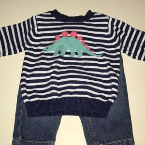 Carter's sweater and jeans set